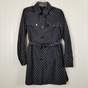 Banana Republic Waterproof Polka Dot Trench Coat S